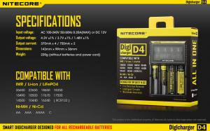 China New Arrival LCD Nitecore D4 charger IMR/Lifepo4/NiMh/NiCd AA AAA battery charger nitecore on sale