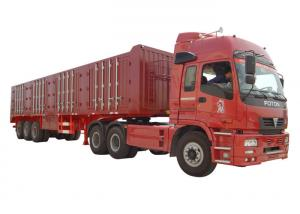 China VAN Type Heavy Duty Semi Trailers 3 Axle 45 Tons - 60 Tons Cargo Van Trailer on sale