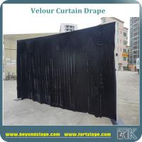Black velour curtain drapes luxury velour drapes for outdoor wedding decoration backdrop or stage backdrops