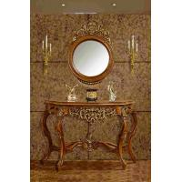 Home Decorative Dressing Table Mirror Brown Antique Mirrored Console Table