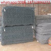 China standard galvanized gabion with 80x100mm mesh for engineering projects/2x1x1m Galfan Gabion Basket For Sale on sale