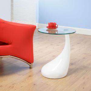 China Valentino Boretti Bistro Contemporary Glass Coffee Tables Tadpole Shape For Coffee Shop on sale