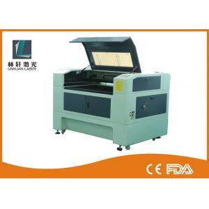 Quality Grabador de escritorio del laser del CO2 de la alta exactitud, máquina de grabado del laser de la tela del control del LCD for sale