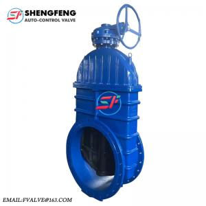 China high quality big size DN1000 DN1200 DN900 resilient seated ductile iron worm gear gate valve on sale