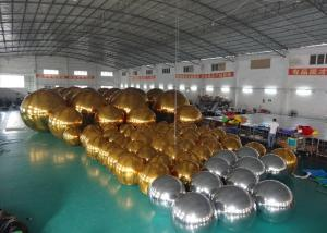 China Outdoor Live Concert Advertising Inflatables Decoration Sliver Reflect Inflatable Mirror Balloon on sale