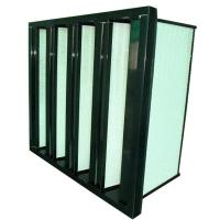 China ABS Plastic Frame V Bank Air Filter Ventilation System Rigid Customized on sale