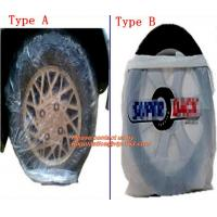 Heavy duty wheel bag masker tire storage bag, Disposable PE plastic tyre bag on roll, Tire storage bag disposable tyre c