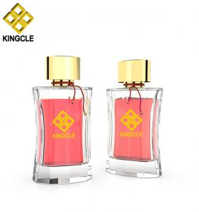 China new design perfume empty bottle glass 100ml container crimp on neck perfume on sale