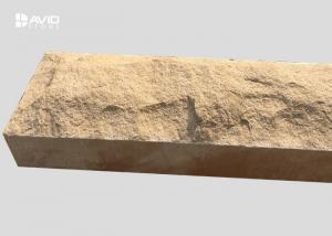 China Chiselled Yellow Mushroom Sandstone Stone For Decoration Walls / Columns on sale