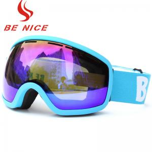 China Eyeglass Compatible Ski Goggles , Women's Reflective Ski Goggles For Dark Conditions on sale