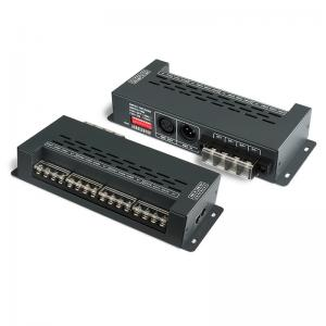 China Black 12 Channel Dmx Decoder 720W High Pwm Frequency Output , 0~100% Dimming Range on sale