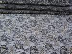 Vintage Metallic Lace Fabric Blue , Nylon Tulle Floral Lace Fabric SYD-0002