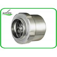 Food Grade Sanitary Butt Weld Check Valve Scientific Connection Design For Industrial