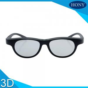 China Black Linear Polarized Cinema 3D Glasses Custom Frame Color For Movie Theater on sale