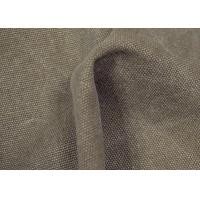 China Anti - Cracking Washed Canvas Fabric 32 X 22 Density For Sports Shoes on sale