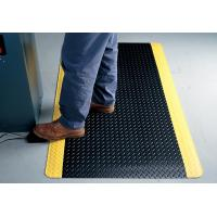 Indoor Large Black Anti Fatigue Floor Mats With Yellow Side , Slip-Resistant
