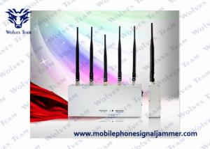 China Handheld Cell Phone Jammer Kit 3G GSM CDMA 5 Antenna 33W Energy Consumption on sale