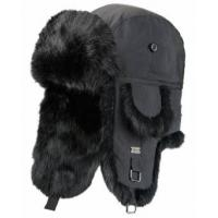 Black / Khaki Mink Fur Wool Winter Hat For Keeping Warm / Protecting Head