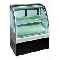 China Curved Glass Food Showcase Refrigerator Bakery Display Cases Easy Installation on sale