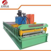 China 0.3 - 0.8mm Corrugated Sheet Roll Forming Machine With PLC Control System on sale