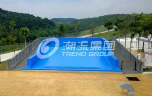 Quality Attractive Surfing Flowrider Water Ride Extreme Sport Fun 21.7m * 13.4m For Water Park for sale