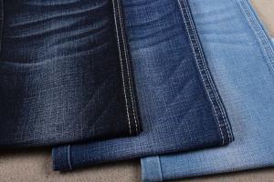 China 70 Cotton 26 Polyester Indigo Yarn Dyed Cotton And Elastane Blend 10.5oz on sale