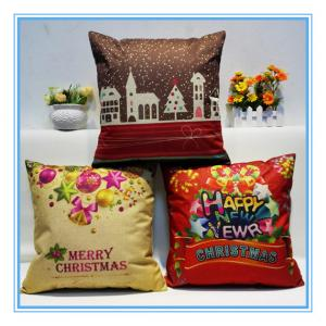 China Christmas painting pillow cover on sale