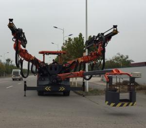 China Full Hydraulic Jumbo Drilling Rig Machine , All Hydraulic Wheeled Drilling Jumbo on sale