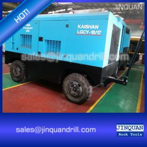 China portable DTH air compressor drill rig on sale