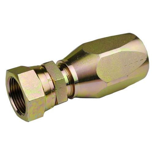 China Brass Reusable Hose Fittings / Female Bsp 60 Cone Fittings 22618d-R5 wholesale