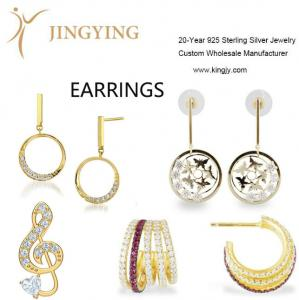China 925 sterling silver earrings fine jewelry wholesale manufacturer on sale
