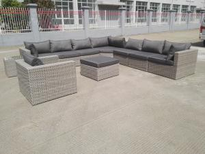 China L Shape Corner Garden Sofa Rattan Wicker Outdoor Sofa Set on sale