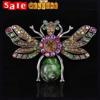 Large Bee Pins Brooch ,Big Crystal Animal Channel Brooches,Lapel Pins for Men Brooches