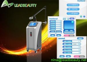 China Wind cooling fractional CO2 laser 3 in 1 machine 0.1mm Spot size 10600nm RF on sale