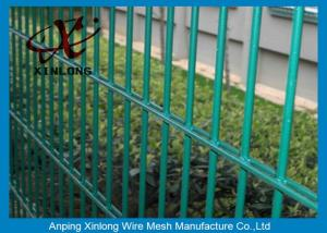 China Double Green Pvc Coated Wire Mesh Fencing For Country Border XLS-05 on sale