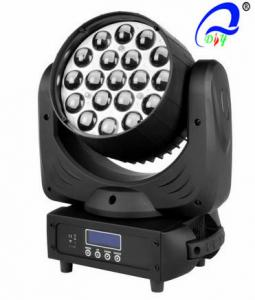 China Beam Zoom LED Wash Moving Head Lamp 19 Pcs * 12W Sound Control For Concerts on sale