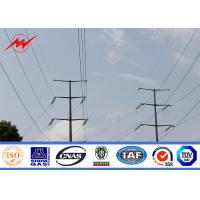 China Distribution Electrical Steel Tubular Pole With Electrical Accessories on sale