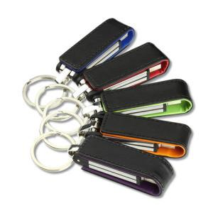 China USB Flash Memory Stick Customized Logo Leather USB Drive for free logo print on sale