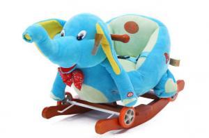 China Christmas Gift Kids Exercise Bike Animal Playful Plush Rocking Horse on sale