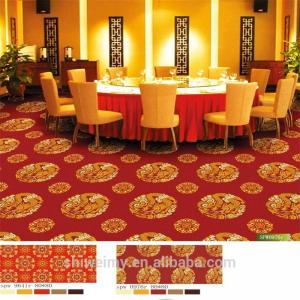 China Red color chinese gold dragon design polypropylene carpet on sale