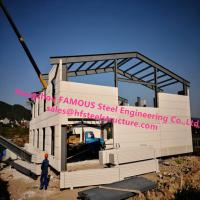 China Prefab House Light Steel Villa Prefab Metal Buildings With Welded Frame on sale