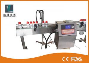 China High Definition Double Heads Industrial Inkjet Coding Machine For Uneven Surface on sale