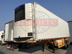 China Double Alxe Refrigerated Semi Trailer, 40FT Refrigerated Enclosed Cargo Trailers on sale
