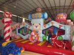 Christmas inflatable candy fun city colourful inflatable Christmas decoration bouncy castle commercial candy jump