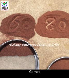 China Waterjet Cutting Sandblasting Garnet Blasting Media High Durability SGS Approved on sale