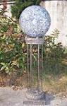 China Turtle Marble color chrome with fiber optic  garden Gazing Ball Stands  stainless on sale