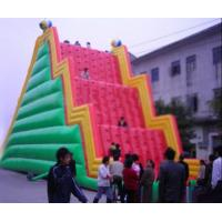 China Inflatable Amusement Park With Red And Green Rock Climbing Wall , Ladder Step on sale