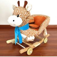 New Plush Rocking Giraffe Animal Toys With Music For Children Riding On