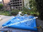 耐久財 0.6mm 膨脹可能な水プール、方法水公園水歩く球