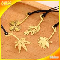 Cute Brass Metal Book Marks Custom Christmas Ornaments Embossed Decoration